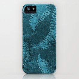 Ferns (light) abstract design iPhone Case