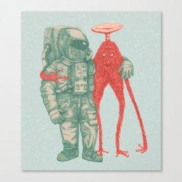 Alien & Astronaut Canvas Print