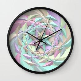 Pastel Spirals Wall Clock