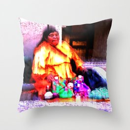 The Dollmaker Throw Pillow