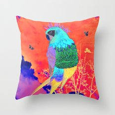 Arara Throw Pillow