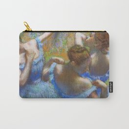 """Edgar Degas """"Dancers in blue"""" Carry-All Pouch"""