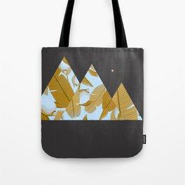 Tropical Leaves & Geometry Tote Bag