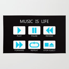 Music Is Life Rug