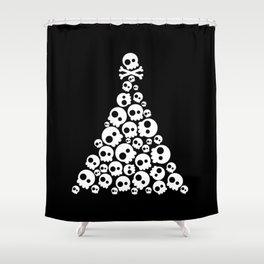 Skulls Christmas Tree Shower Curtain