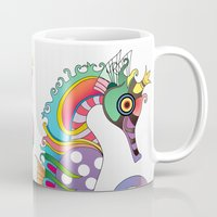 horse Mugs featuring horse  by mark ashkenazi