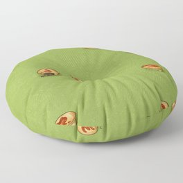 Adelaide Pie Floater, extra mushy peas please Floor Pillow