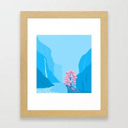 MIND AND HEART  INNER PEACE Framed Art Print
