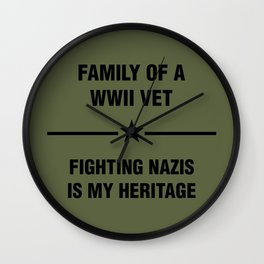 WWII Family Heritage Wall Clock