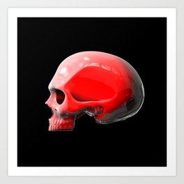 Reflective White Skull Art Print