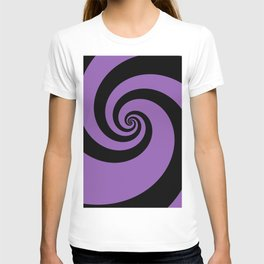 Purple swirls T-shirt