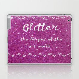 Quirky funny glitter - pink Laptop & iPad Skin