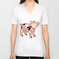 piglet V-neck T-shirts featuring Piglet Knot by Knot Your World