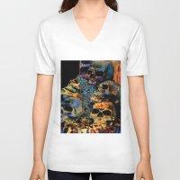 skulls V-neck T-shirts featuring Skulls By Annie Zeno by Annie Zeno