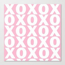 XOXO - Light Pink Pattern Canvas Print