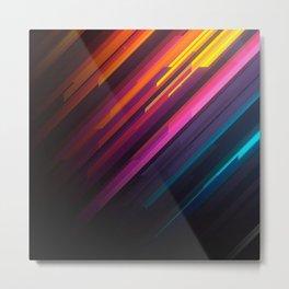 Procedural Diagonals B 004 Metal Print