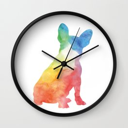 Watercolor frenchie Wall Clock