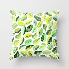 Leaf Green Throw Pillow