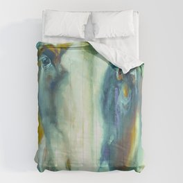 Horse in Color Comforters