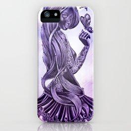 Purple Swirl iPhone Case