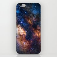 milky way iPhone & iPod Skins featuring Milky Way by Zavu