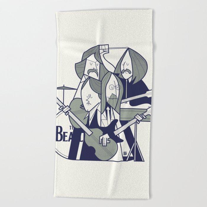Fab Four Beach Towel