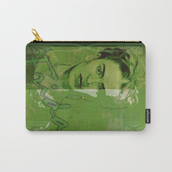 Frida Kahlo - between worlds - green Carry-All Pouch