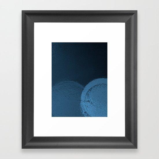Dark Night Blues Framed Art Print