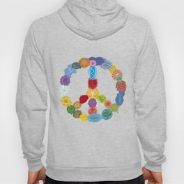 Peace Sign In Colors Hoody