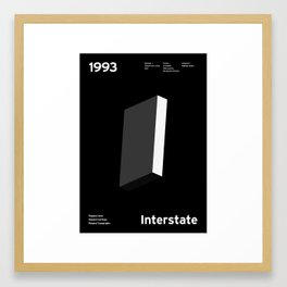 Sans Serif Vol. ¹ – Interstate Framed Art Print