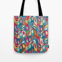 psychedelic Tote Bags featuring Psychedelic by Helene Michau
