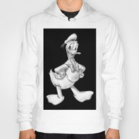 donald duck Hoodies featuring Donald Duck by Dennis Rios