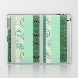 French Stripe Green/Grey Laptop & iPad Skin