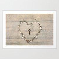 Keys to the Heart Art Print