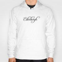 edinburgh Hoodies featuring Edinburgh by Blocks & Boroughs