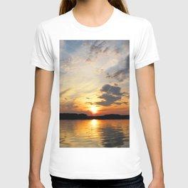 Watercolor Sunset, Janes Island 01, Maryland T-shirt