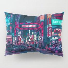 Cyberpunk Tokyo Street Pillow Sham