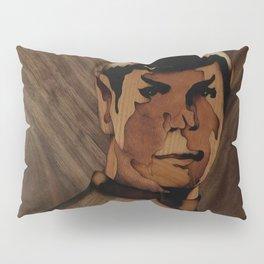 Original Leonard Nimoy (mr. Spock) on enterprise series of wood by Andulino Pillow Sham