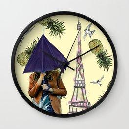 When it rains in Paris Wall Clock