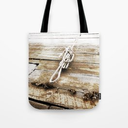 Nautical Rope in Sepia Tote Bag