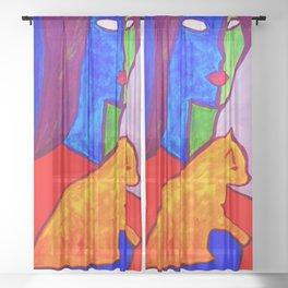 Watchful Eye #society6 #decor #buyart Sheer Curtain
