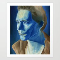 tom hiddleston Art Prints featuring Tom Hiddleston by thinkpassion