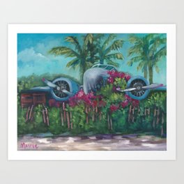 Stranded at Castaway Cay Art Print