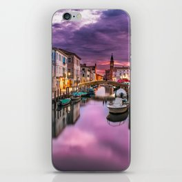 Venice Italy Canal at Sunset Photograph iPhone Skin