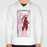 cherry blossoms Hoodies featuring Cherry Blossoms by Nana Leonti