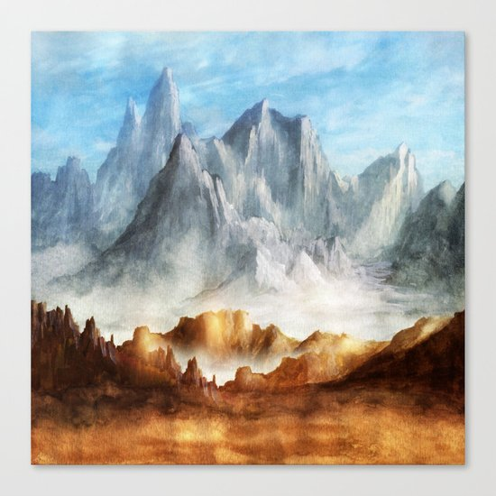 Over The Mountains Canvas Print