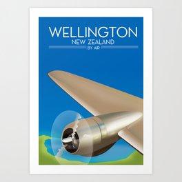 Wellington New Zealand By air. Art Print