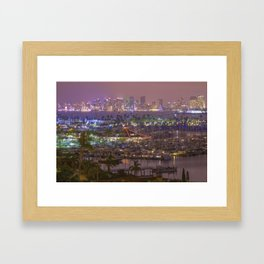 San Diego Skyline seen from Point Loma Framed Art Print