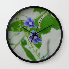 tiny purple Wall Clock