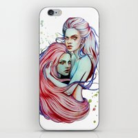 gemini iPhone & iPod Skins featuring Gemini by Olga Noes